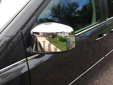 Fits 08-2019 Dodge Grand Caravan chrome mirror cover trim molding set