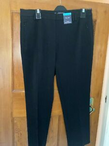 MARKS AND SPENCERS Ladies Black or navy Slim Leg Mid Rise Trousers Sizes 6-24