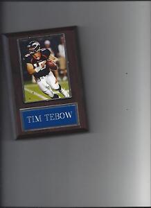 TIM TEBOW PLAQUE DENVER BRONCOS FOOTBALL NFL