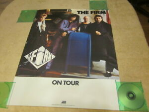 The Firm 1986 Mean Business On Tour Promo Poster Page Slade Franklin Rodgers