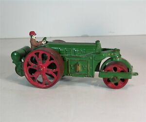 1920s CAST IRON TOY ROAD ROLLER / STEAM ROLLER By ARCADE IN ORIGINAL PAINT