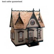 Doll House Kit Wood Orchid Dollhouse Miniature Victorian Mansion Kids Toy Hobby