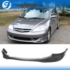 Fits 04-05 Honda Civic 2 4Dr Front Bumper Lip Urethane