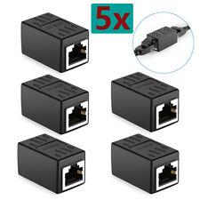 5X Rj45 Cat5e Female to Female Network Ethernet Lan Connector Adapter Coupler
