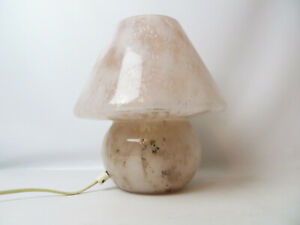 BEDSIDE MUSHROOM TABLE LAMP MID CENTURY MURANO? DANISH? LAMP LIGHT 50s 60s