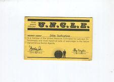 1966 Original MAN FROM UNCLE U.N.C.L.E. Secret Agent Membership Card VG/FN 5.0