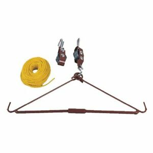 Deer Hoist Tree Gambrel Hanging Pulley Rope Game Lift System Hunting Accessories