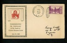 US Cover Presidential Ulysses Grant 1935 Mt McGregor NY Death Timmerman Postcard