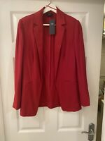 M&S COLLECTION JACKET BLAZER WOMEN, RED. UK 8. NEW WITH TAGS.