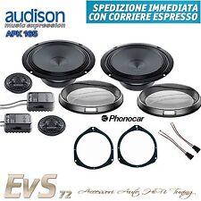 Kit 4 Casse Anteriori Audison per Fiat Grande Punto APK 165 + Adattatori by EvS