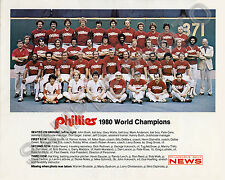 1980 PHILADELPHIA PHILLIES WORLD SERIES CHAMPIONS 8X10 TEAM PHOTO ROSE TRILLO