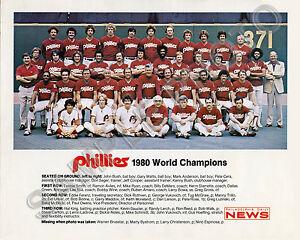 1980 PHILADELPHIA PHILLIES WORLD SERIES CHAMPIONS 8X10 TEAM PHOTO ROSE TRILLO