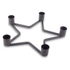 Weihnachtsdeko Adventskranz Kerzenständer Stern Design in Schwarz für 5 Kerzen