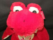 NEW RED WHITE PINK HEART FROG SITTING ANIMAL PLUSH STUFFED TOY GOFFA INTL