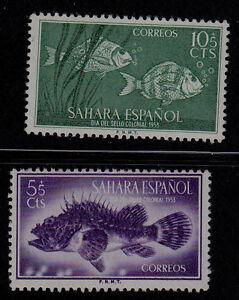 SPANISH SAHARA SCOTT#B27-B28 MH FISH TOPICAL