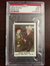 1957 Dutch Gum Card Serie H #56 JOHN WAYNE The Searchers PSA 9 oc MINT