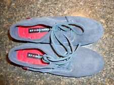 Oliberte navy suede Eloka leather oxford shoes flats display size 7M New no box