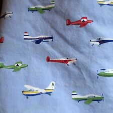 Pottery Barn Kids Blue Airplanes Twin FLAT Bed Sheet Planes Bedding Blue Boys