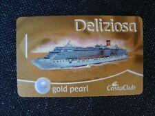 Costa Deliziosa ( GOLD PEARL Status) Bordkarte Schlüsselkarte  Kabinenkarte