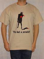 Monty Python 'Tis but a scratch! Beige T-shirt Size Large