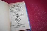 ABREGE ELEMENTAIRE D'ASTRONOMIE par M.T.B. EDITIONS 1778 CHEZ FROULE PARIS