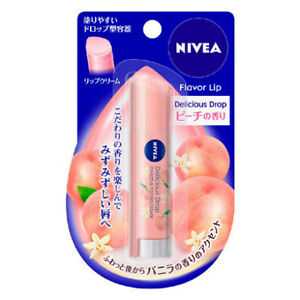 Kao NIVEA Flavor Lip Delicious Drop Peach & Vanilla from JAPAN F/S