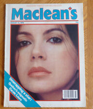 Maclean's Magazine Carole Laure Paul Anka Margaret Thatcher August 13 1979