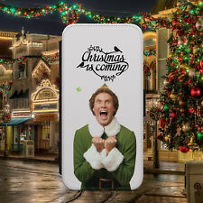 BUDDY THE ELF/CHRISTMAS/X-MAS/FLIP WALLET PHONE CASE COVER FOR IPHONE/SAMSUNG