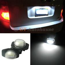 2x Exact Fit White LED License Plate Light Lamps For selected Toyota Scion