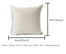 20PCs  Linen(45*45cm)Printed Blank Sublimation Pillow Case (no pillow inner)