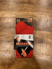 NWT Red Youth Performance Athletic Socks Team Select Sport Sof Sole XS Pair!