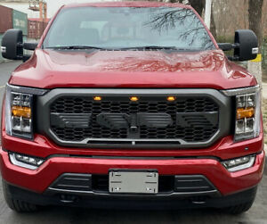 2021 Raptor Style  Grille will fit  F150  Painted Matte Complete with Lights