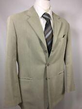Crazy Horse Beige Blazer Sport Coat Size 40 R 3 Button Rayon Polyester