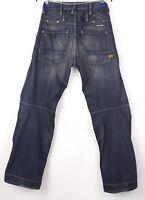 G-Star Brut Hommes Tempête Elwood Ligne Embro Jeans Jambe Droite Taille W30 L34