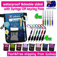 """Nurse Pouch """"Extra Pocket"""" Quick Pick Nurses Bag wt Belt Syringe or Keyring Pen"""