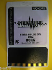 KORG Vintage 1991 RARE WAVESTATION Internal PRE-LOAD DATA BANK 3 WPC-OOP3 00PIII
