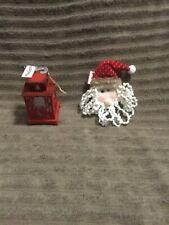 Christmas Tree Ornaments Santa And Lantern