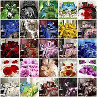 3D Effect Floral Printed Duvet Quilt Cover Bedding Set/ Sheet/Pillow Cases