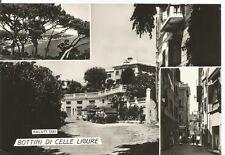 160501 SAVONA CELLE LIGURE - BOTTINI - SALUTI da... VEDUTINE Cartolina FOTOGRAF.