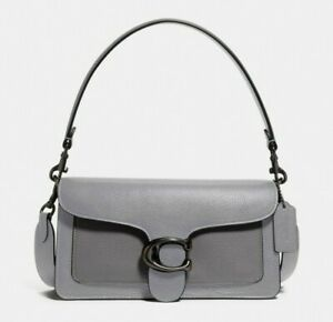 Coach Tabby Shoulder Bag 26 In Colorblock Pewter/Granite Multi Grey 76105