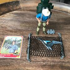 1993 Jurassic Park Alan Grant Figure Aerial Net Trap Complete Kenner Vintage