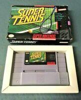 Vintage Super Tennis Super Nintendo Entertainment 1991 w/ Box #4455