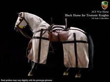 "ACI 1/6 Scale 12"" War Horse Teutonic Knight Black Horse H03A"