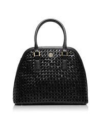 NWT Tory Burch Robinson Leather Basketweave Open Dome Satchel Crossbody bag-$525
