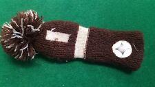 Vintage Knit Pom Pom Driver Headcover / Brown White / jkhc543