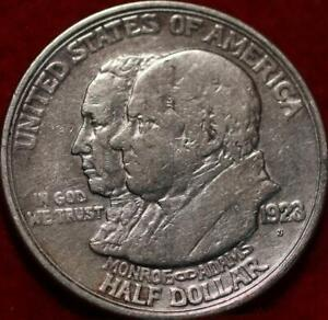 1923-S San Francisco Mint Monroe Doctrine Silver Comm Half