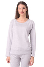 FELPA DIESEL DONNA MELANGE - L TOP TRACK WOMEN'S MILKY SLEEVE RAGLAN SCOOP NECK