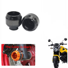 Universal Motorcycle Fork Wheel Frame Slider Crash Protector Black&Carbon Fiber