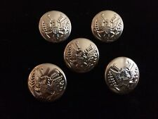 5 New Old Stock Vintage metal buttons lot blazer eagle gold color light weight