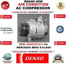 DENSO AIR CONDITION AC COMPRESSOR OEM: A0022301211 for MERCEDES BENZ S-CLASS
